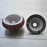 Cendrier anti fumée Bakir rouge - D 20 cm