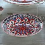 Service de table avec bol Bakir rouge - 6 pers