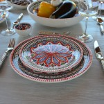 Service de table avec bols Bakir rouge - 12 pers