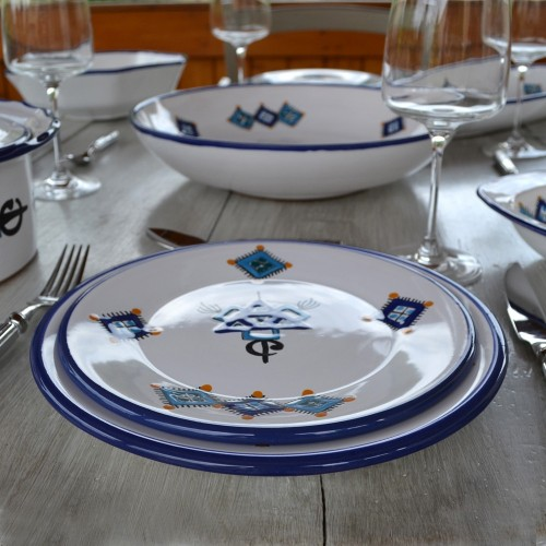 Service de table Sahel bleu - 12 pers