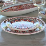 Lot de 6 assiettes plates Bakir rouge - Diam 24 cm