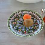 Assiette à entrée ou dessert Bakir vert - D 20 cm