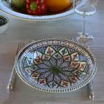 Assiette creuse Bakir vert - D 24 cm