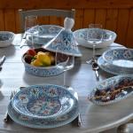Lot de 6 assiettes creuses Marocain turquoise - D 24 cm