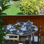 Service à couscous Marocain turquoise assiettes Tebsi - 12 pers