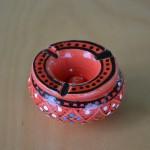 Lot de 2 mini cendriers Marrakech Rouge et Blanc