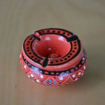 Lot de 2 mini cendriers Marrakech Noir et Rouge