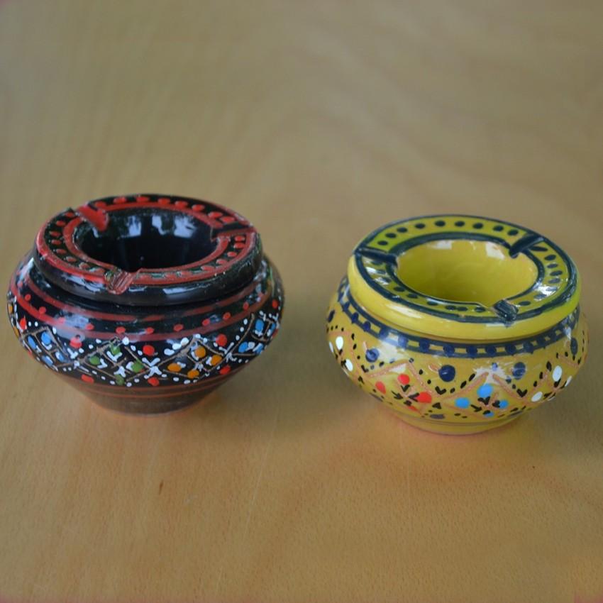 Lot de 2 mini cendriers Marrakech Noir et Vert