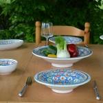 6 assiettes Tebsi Bakir Royal - D 23 cm