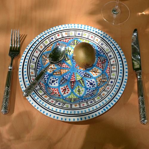Assiette à entrée ou dessert Bakir royal - D 20 cm