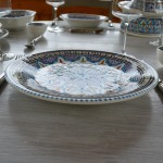 Lot de 6 assiettes plates Bakir turquoise - D 28 cm
