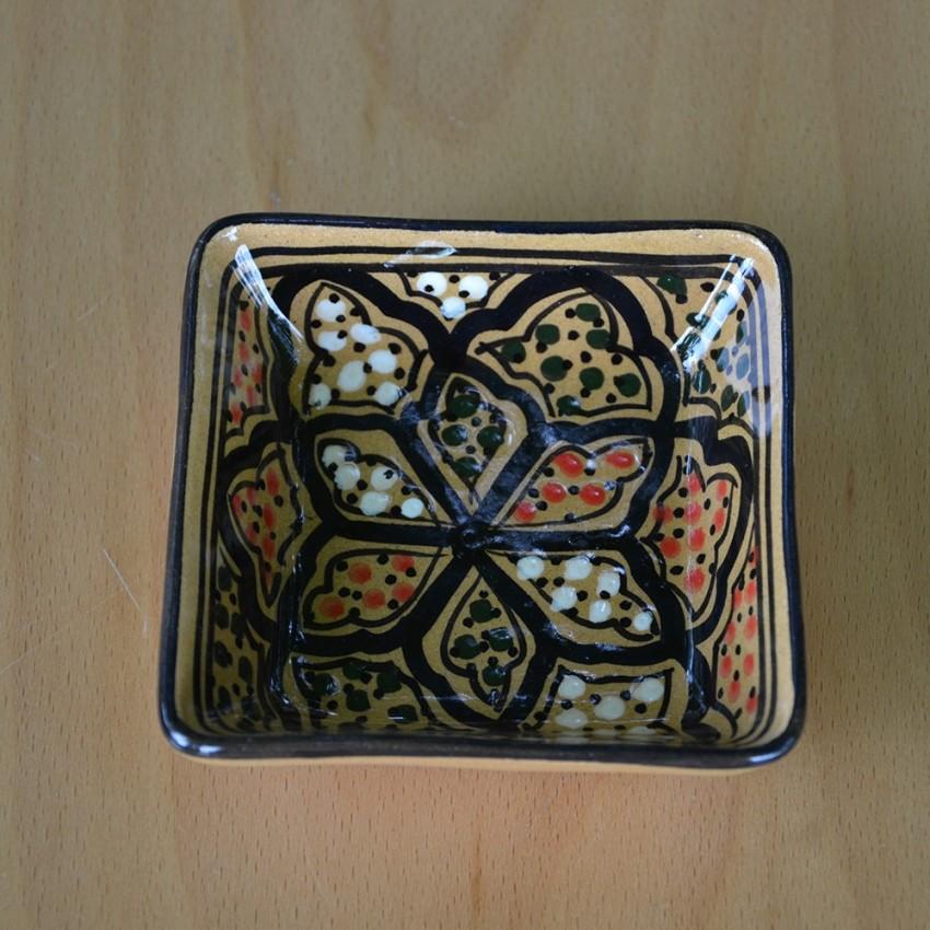 Plat carré Medina miel - L 11 cm