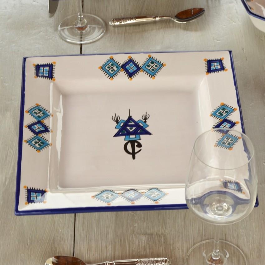 Assiette carrée Jileni - Diam 24 cm