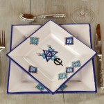 Plat carré Sahel bleu - L 30 cm