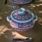 Service à soupe Bakir rouge - 8 pers