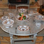 Lot de 6 assiettes Tebsi Sahel beige - D 23 cm