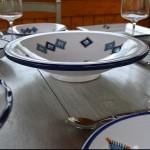 Plat Tebsi Sahel bleu - Diam 37 cm