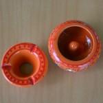 Lot 3 mini cendriers Marrakech Rouge, Noir et Blanc