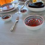 Service à salade de fruits Bakir rouge - 12 pers