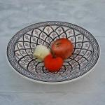Service à couscous assiettes Tebsi Bakir gris - 12 pers