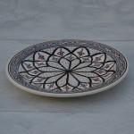 Assiette plate Bakir gris - D 24 cm