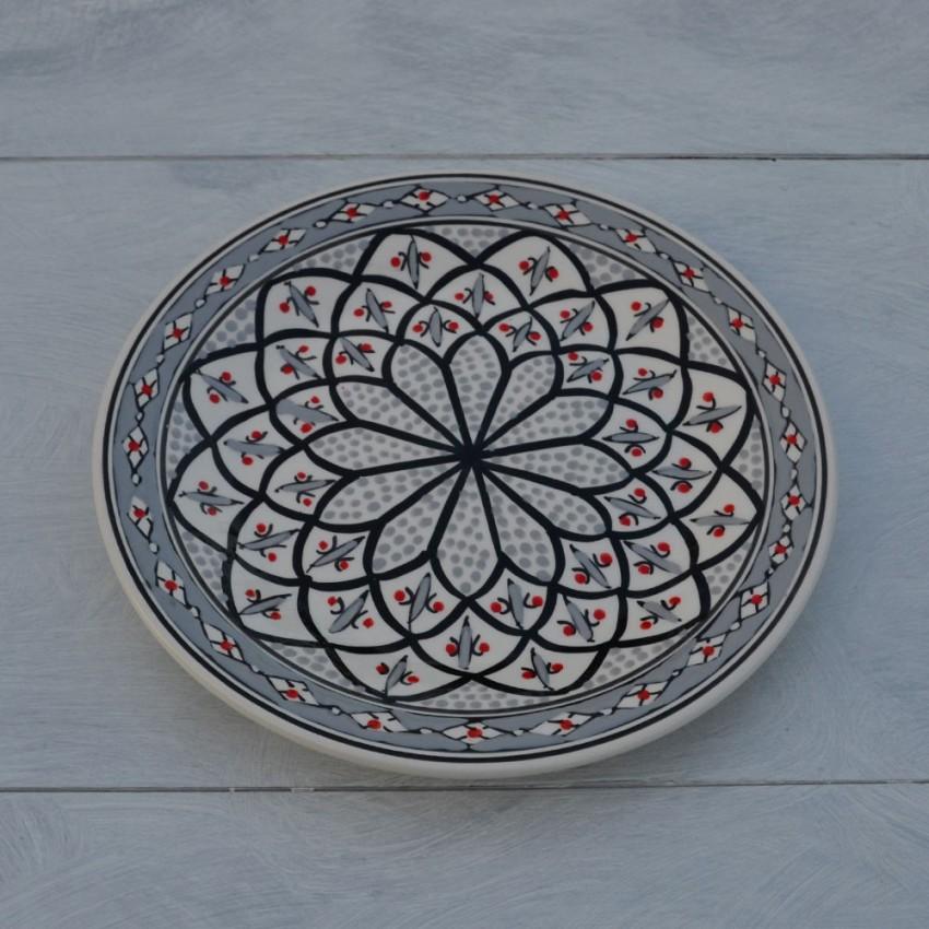 Assiette plate Bakir gris - D 28 cm