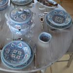 Assiette plate Marocain turquoise - D 24 cm