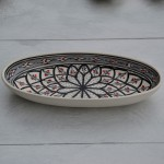 Plat ovale Bakir gris - L 24 cm