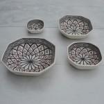 Plat octogonal Bakir gris - L 25 cm