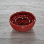 Bol Tatoué rouge - D 18 cm