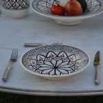 Service à couscous assiettes creuses Bakir gris - 12 pers