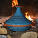 Tajine Marrakech Bleu - D 31 cm traditionnel