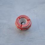 Cendrier anti fumée Tatoué rouge et blanc - Mini modèle