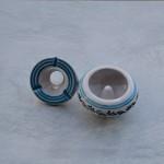 Lot 3 cendriers anti fumée blanc et anis - Mini modèle