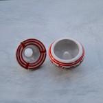 Lot 3 cendriers anti fumée blanc et couleurs - Mini modèle
