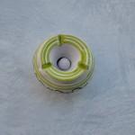Lot 4 cendriers anti fumée bicolore - Mini modèle