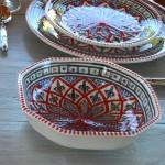 Plat octogonal Bakir rouge - L 20 cm