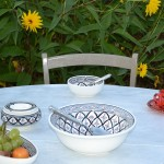 Service à salade de fruits Bakir gris - 12 pers