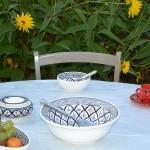 Service à salade de fruits Bakir gris - 8 pers