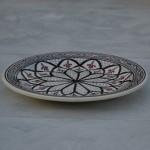 Lot de 6 assiettes plates Bakir gris - D 24 cm