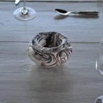 Lot de 10 Cendriers artisanaux Marbré - Petit modèle