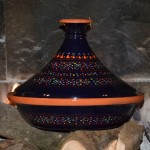 Tajine Marrakech Bleu Nuit - D 31 cm traditionnel