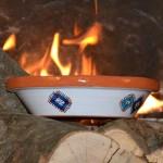 Tajine individuel de cuisson Marocain rouge - D 23 cm