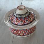 Service à couscous assiettes jattes Bakir rouge - 6 pers