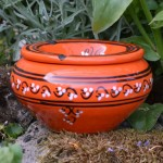 Cendrier Tatoué orange - D 12 cm