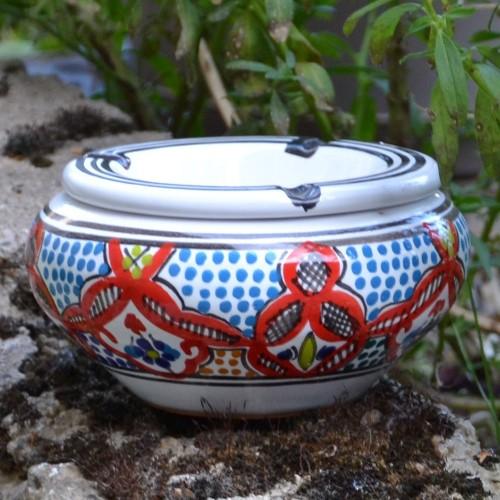 Cendrier oriental Marocain Rouge - Moyen modèle