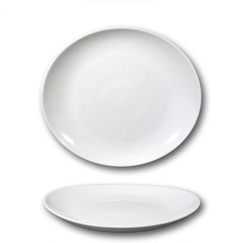 Assiette à steak porcelaine blanche - D 27,5 cm - Tivoli