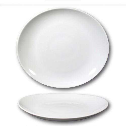 Assiette à steak porcelaine blanche - D 30,5 cm - Tivoli