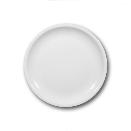 Assiette plate en porcelaine blanche - D 27 cm