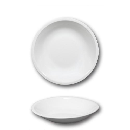 Assiette creuse porcelaine blanche - D 20 cm - Roma
